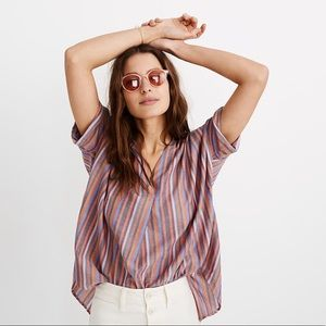 Madewell courier back button top size small